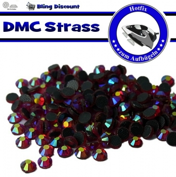 250 SS16 Hotfix DMC -facettierte Strasssteine Glas light Siam AB Hotfix